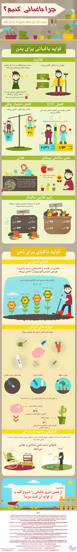 مزایای باغبانی اینفوگرافیک